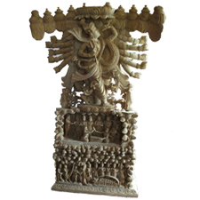 Dashavathram in wood statue
