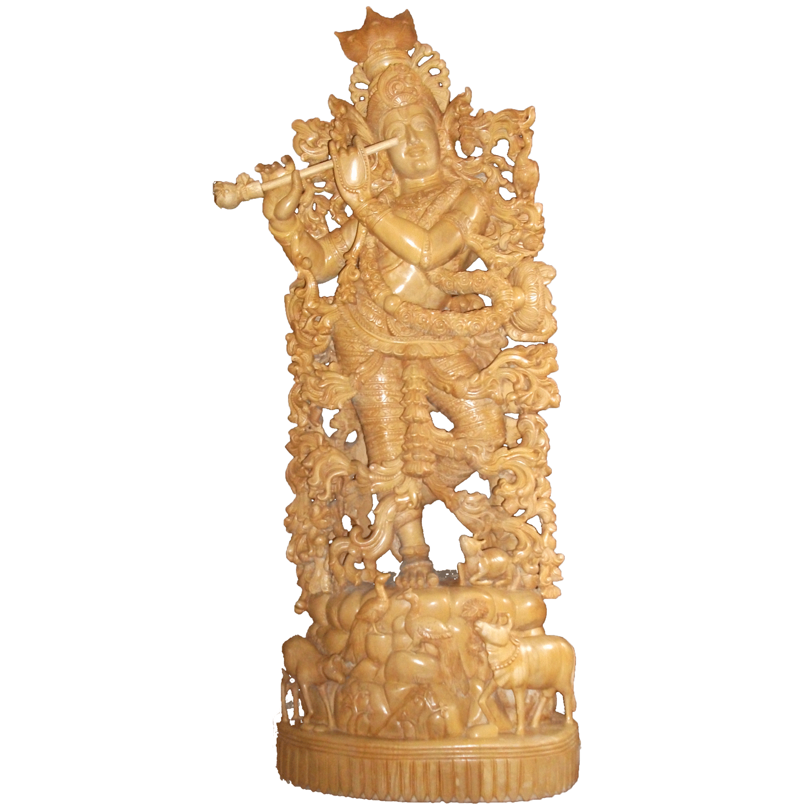 Sri Krishna Large  wooden Statue